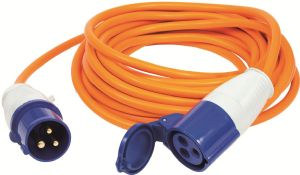 VECHLINE MAINS EXTENSION LEAD 10M IN POLY BAG/COLOUR INSERT