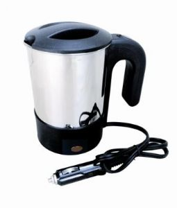 STAINLESS STEEL KETTLE 12v CIGAR PLUG