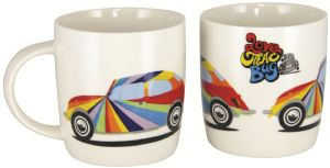 VW BEETLE COFFEE MUG WHITE 9.3cm 400ml