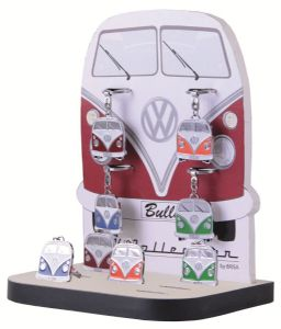 VW KEYRING IN DISPLAY UNIT (12PCS in 4 COLOURS)