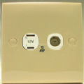 CLIPSAL SQUARE 2 PIN SOCKET/COAX BEIGE